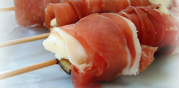 Heart of Palm wrapped with Prosciutto