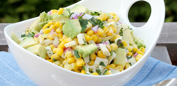 Salad with Hearts of Palm and Corn