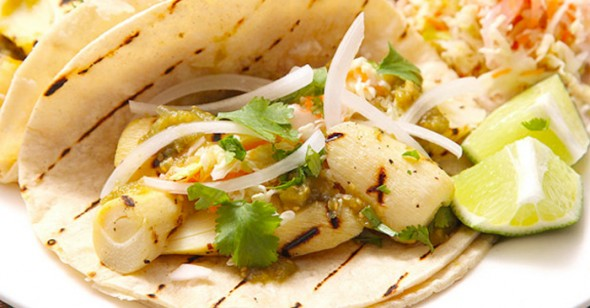 Easy recipes with hearts of palm: Grilled Marinated Heart of Palm Tacos